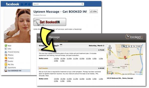 Facebook Booking