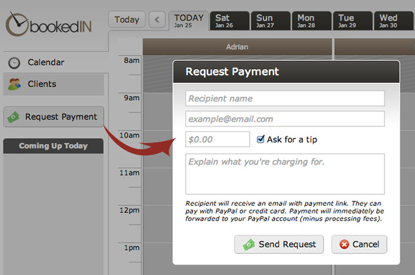 Get paid in two click with appointment software