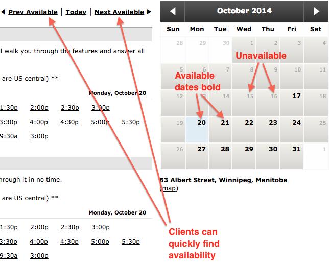 appointment scheduling BookedIN updated calendar