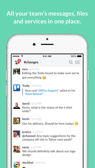 slack screenshot image to use with your tattoo appointment app