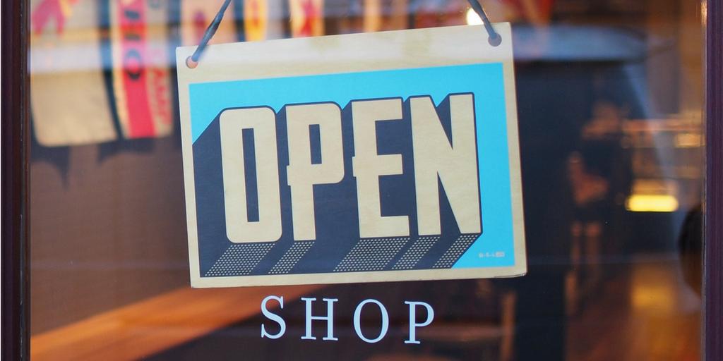 bookedin shop sign