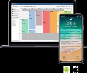 online booking notifications calendar desktop phone