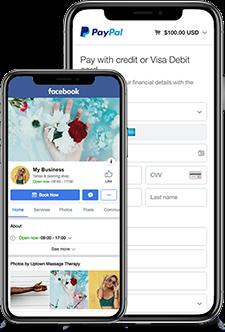 online scheduler that works with paypal facebook instagram