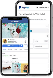 online scheduler that works with paypal facebook instagram