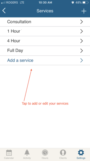 how to edit or add a service