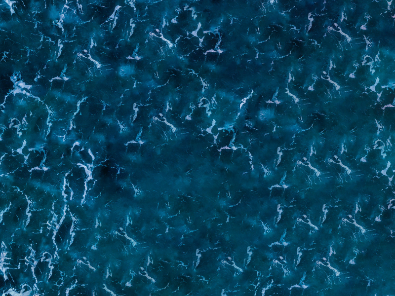 overhead shot of the ocean waves
