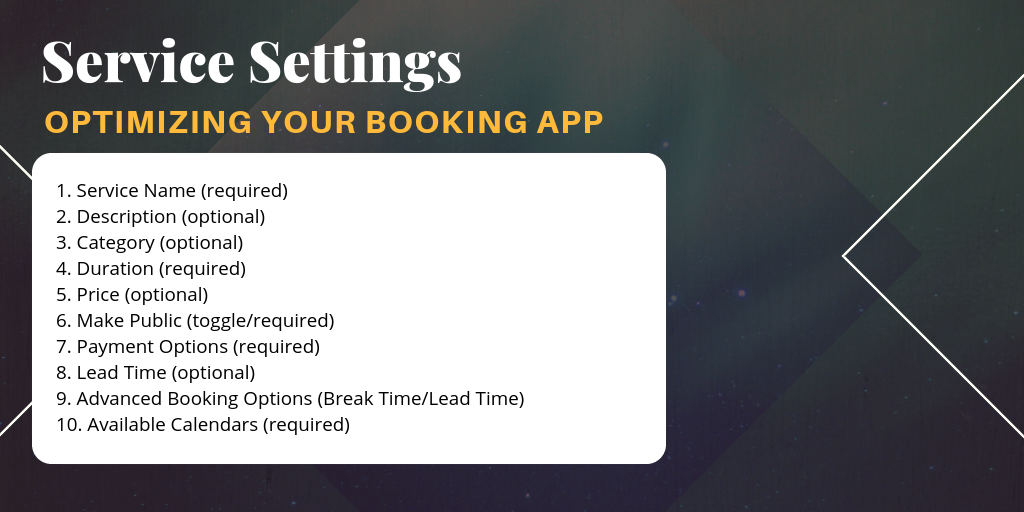 how to add new services for online scheduling