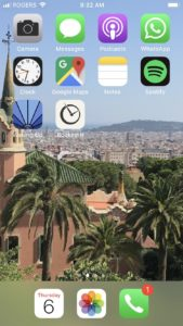 visual representation of a clean iPhone home screen