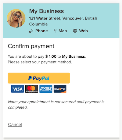 pay for appointments online with bookedin