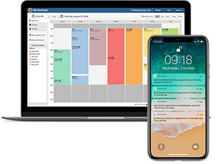 appointment scheduling app calendar and notifications