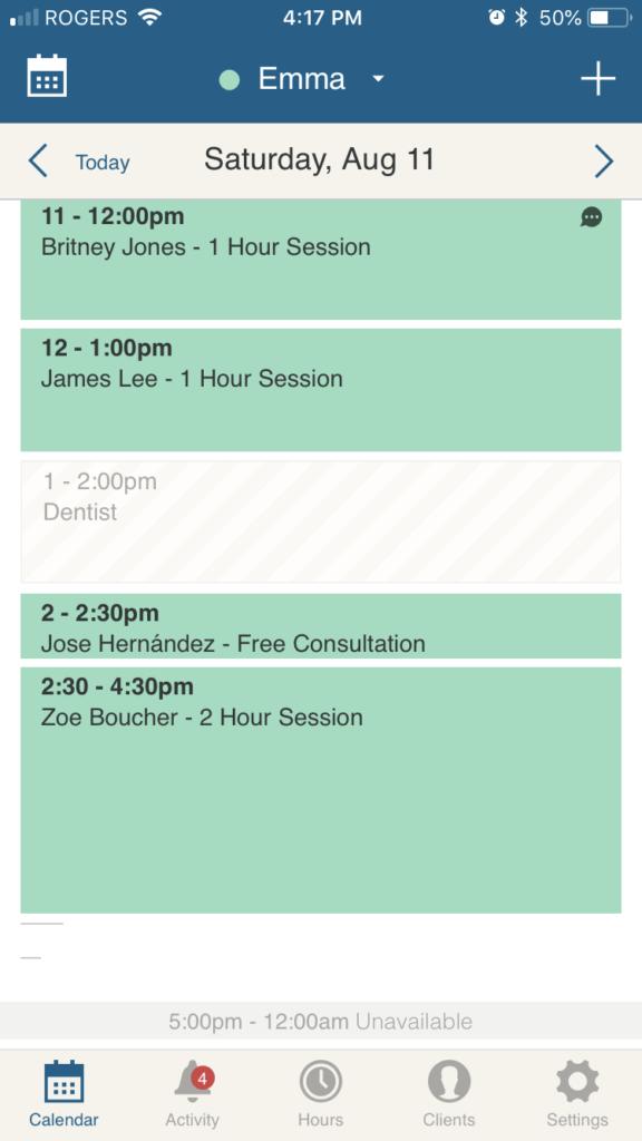 appointment scheduler app calendar