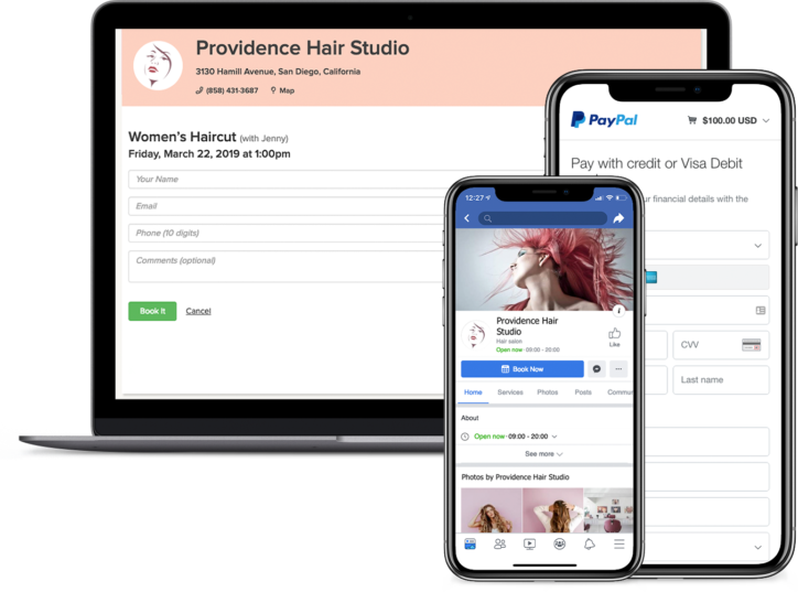 Hair salon online appointment booking software