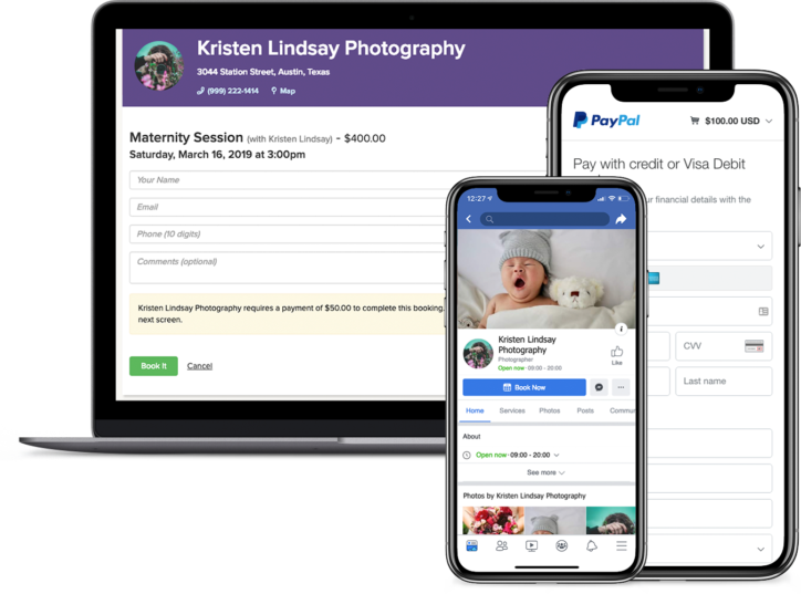 Photographer appointment booking app