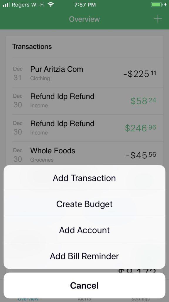 mint money manager screenshot