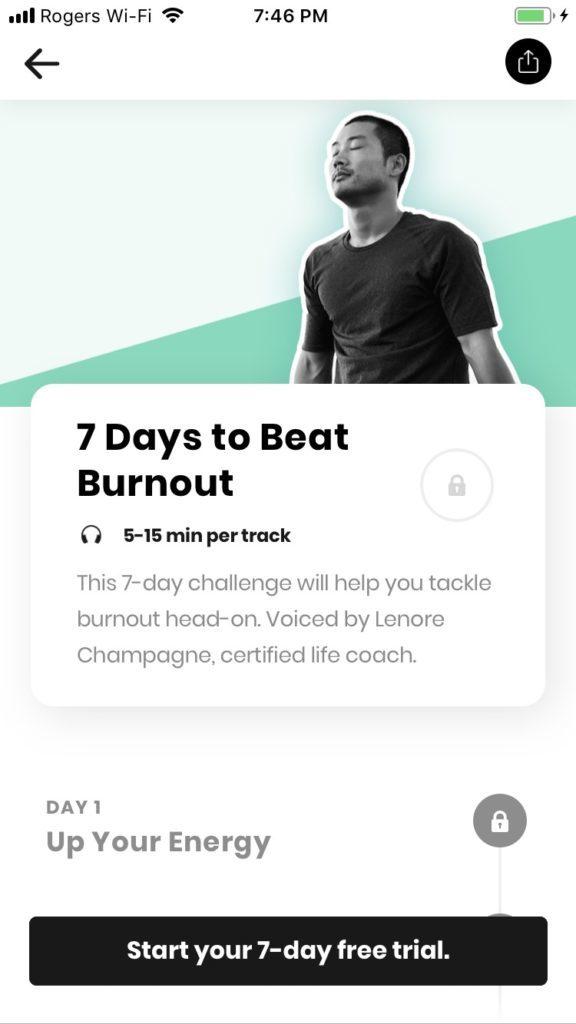 shine healthy mind app screenshot