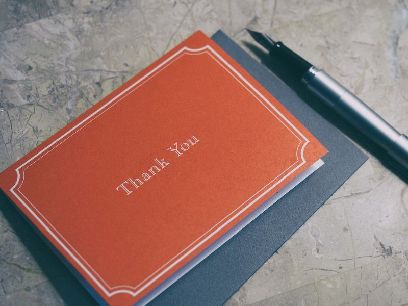 a thank you note is an innovative customer service idea