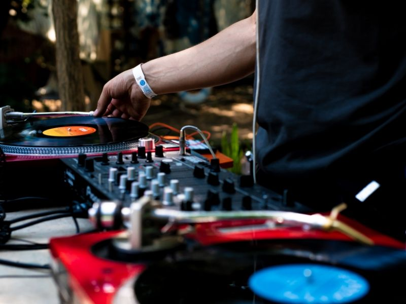 dj with two turntables is an Innovative ideas for client visit