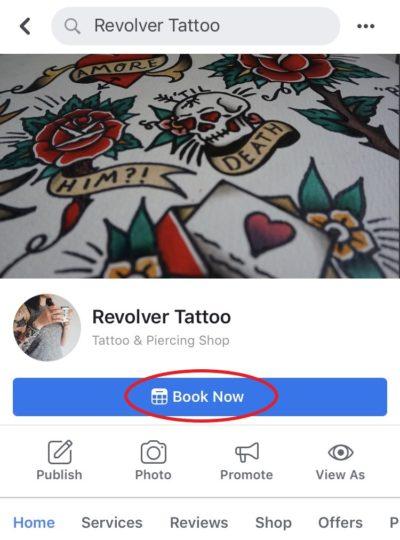 final booking button on facebook mobile