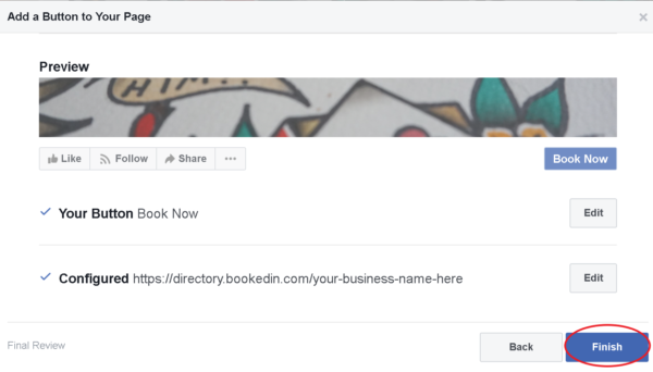how to add your online booking page link to facebook