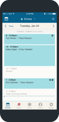 appointment book calendar iphone app