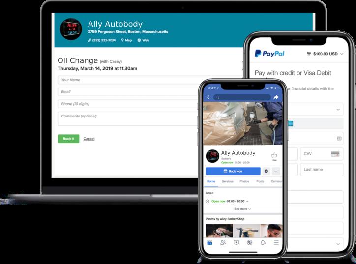 autobody booking app