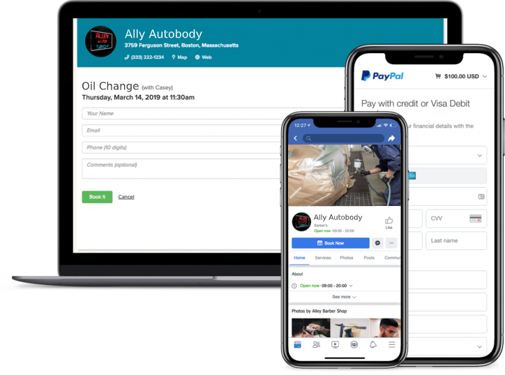 autobody booking app