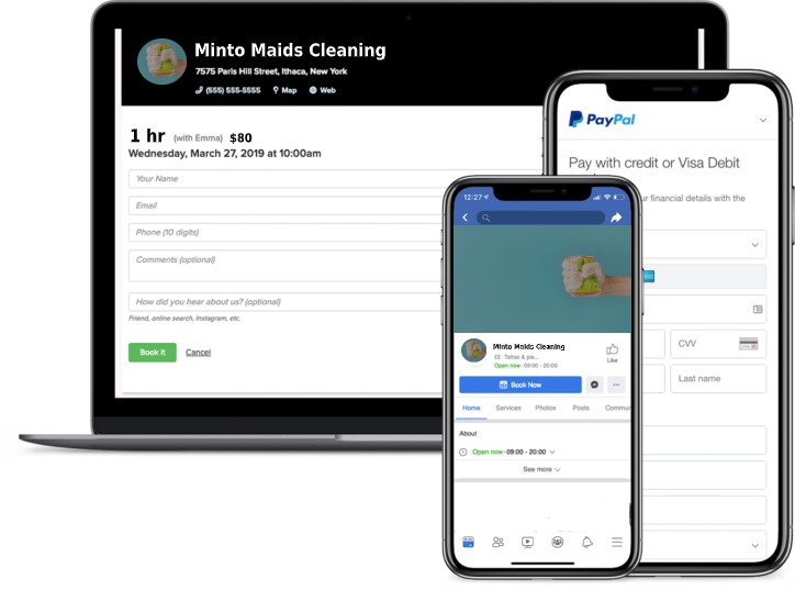 cleaning business booking software