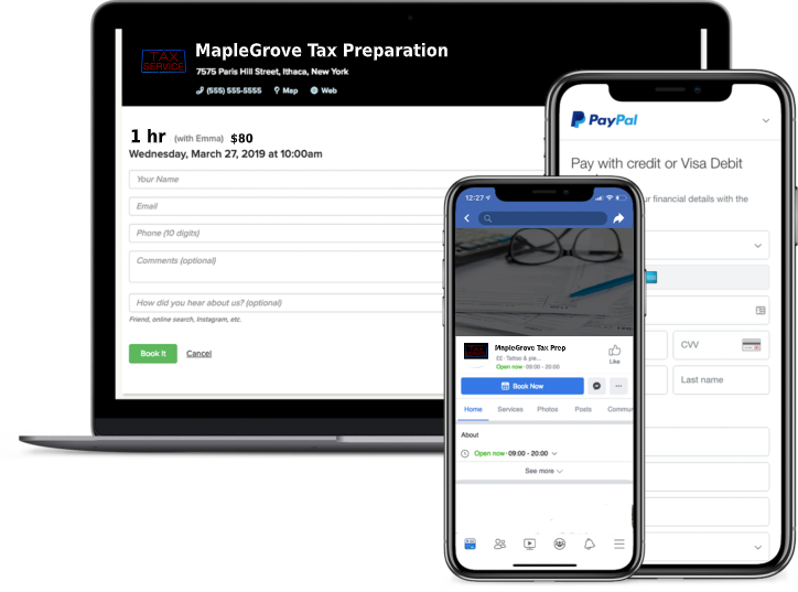 tax preparation booking software