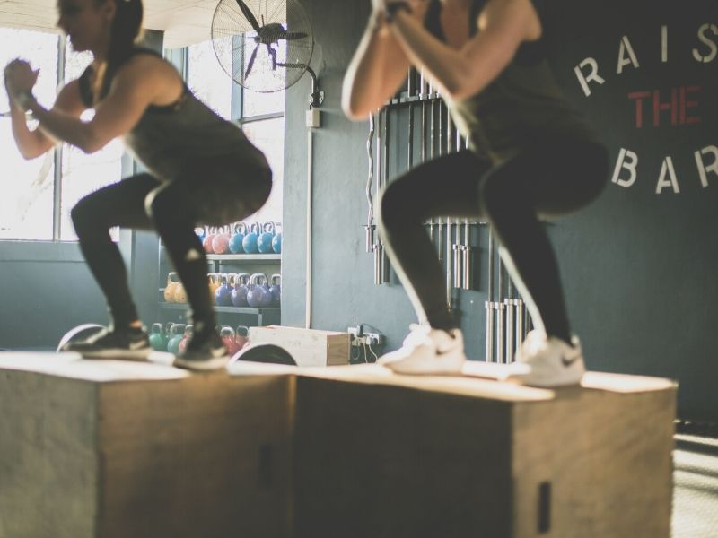 personal training on box jumps