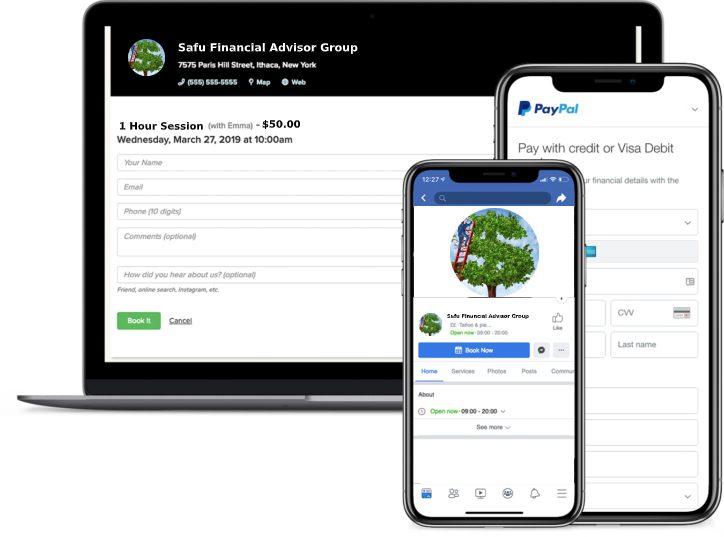 financial advisor booking app