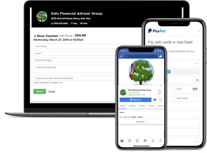 financial advisor booking app