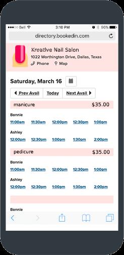 nail salon booking app