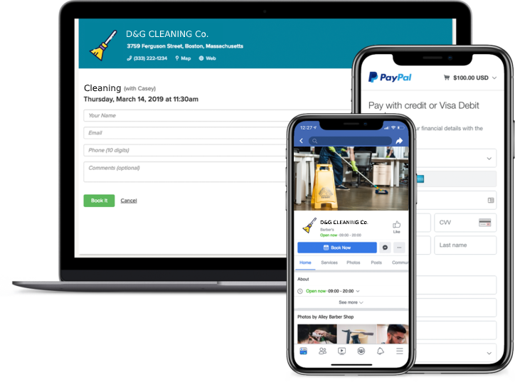 commercial cleaning booking app