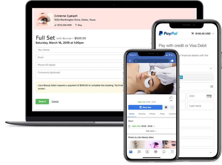 eyelash appointment booking app