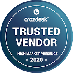 trusted vendor 2020 award from crozdesk