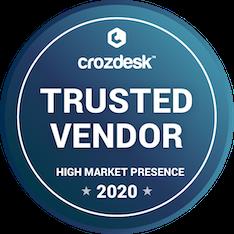 trusted vendor 2020 award from crozdesk