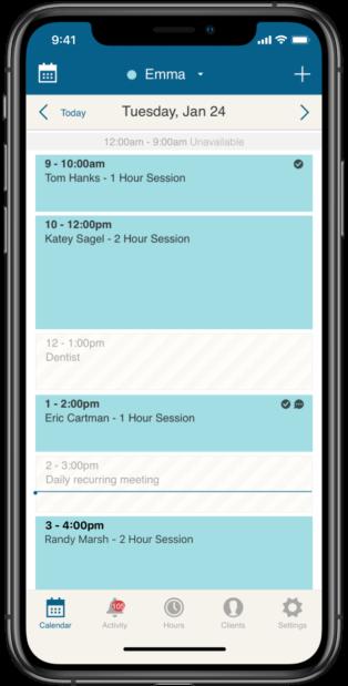 mobile scheduling app