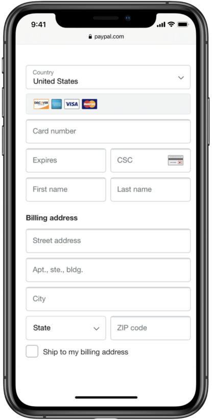 mobile online payment processing